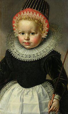 Portrait d'une enfant, Wybrand de Geest (Dutch, c.1592 -c.1661)