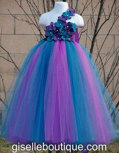 Pretty Purple & Teal Baby Girl Flower Girl Tutu Dress love this for madison Purple Tutu Dress, Baby Tutu Dresses, Little Girl Dresses, Tulle Dress, Girls Dresses, Peacock Wedding, Purple Wedding, Dream Wedding, Flower Girl Tutu