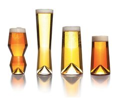 Remember Pretentious Beer Glasses? Well meet the next step up (or down, depending on how you view beer snobbery): Narcissistic Beer Glasses. Also known as The Monti Taste Collection. These 4 glasses have been designed and calibrated to deliver IPAs, P