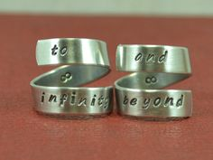 Hey, I found this really awesome Etsy listing at http://www.etsy.com/listing/129085923/to-infinity-and-beyond-ring-set-couples