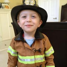 Our little firefighter...