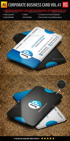 Visiting card design cdr file free download rounded corners corporate business card vol41 reheart Choice Image
