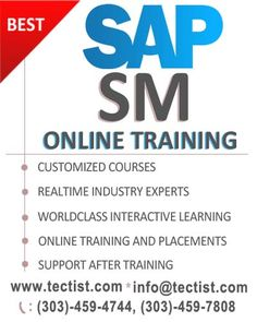 SAP Solution Manager Training: SAP SM Online Training providing by real time experts at Tectist. http://www.tectist.com/sap-sm-online-training.html #saponlinetraining #sapsmonlinetraining #sapsolutionmanager #solutionmanageronlinetraining