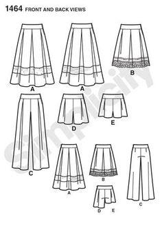 Simplicity Pattern 1464 Skirts