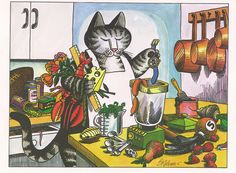 Kliban Cat by VeryHappyHomemaker-Angee at Postcrossing, via Flickr