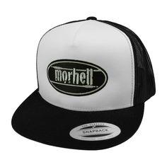 morhell - Trucker Mesh Cap black Snapback mit aufgesticktem Logo