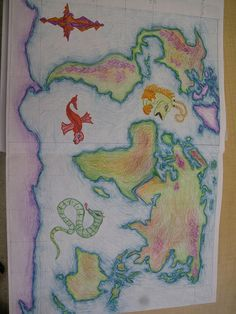 Waldorf ~ 7th grade ~ Age of Exploration and Discovery ~ World Map