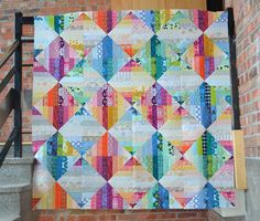 Love this scrappy quilt top!!