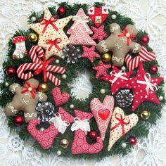 FREE SHIPPING Holiday Wreath Christmas por ToysAndDreams en Etsy