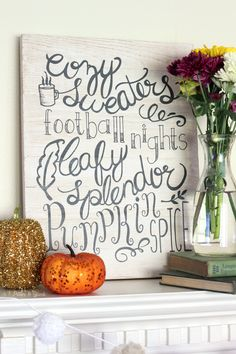 Create this beautiful Hand-Lettered Fall Wall Art.  It's so easy using the free…