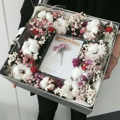 Flowers in boxes