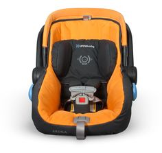 UppaBaby MESA Infant Car Seat in Sebby - Adjustable headrest with SIP side impact protection for baby's comfort and safety. Having A Third Child, Cool Comforters, Sweet Child O' Mine, Best Car Seats, Getting Ready For Baby, Third Baby, Baby Comforter, Baby Center, Baby Registry