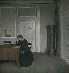 A room in the artist's home, in Strandgade, Copenhagen, with the artist's wife. 1902 Statens Museum for Kunst, Copenhagen