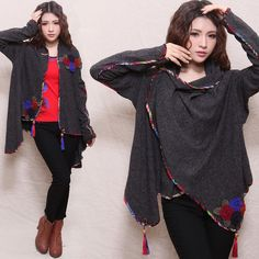 Chinese Style Cost/ Jacket - Modern Chinese Style Clothing: Chinese Short Cloak $64.99 (48,96 €)