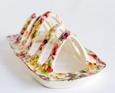 Vintage Toast Rack in Chintz China by QuaintCollector