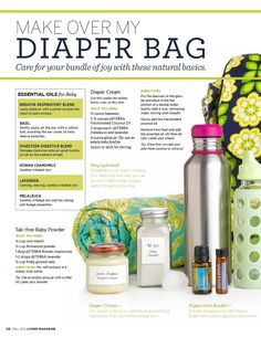 DoTerra essential oils can replace many medications in your diaper bag and they are all natural....check out my website www.mydoterra.com/tawnyakeller....You can find information there about oils you are looking for and order what you need right on my website