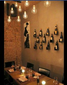 love the display of wine bottles