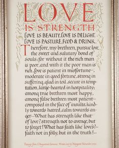 Love is strength - Crafts Study Centre - VADS - online resource for visual arts Love Is Patient, Rich Man, Visual Arts, Centre, Strength, Study, Crafts, Calligraphy, History