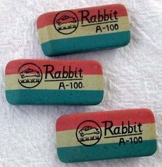 3 Vintage Erasers Quick Like a Bunny Racing Rabbits School Memories, My Childhood Memories, Great Memories, Good Old Times, The Good Old Days, Retro Ads, Vintage Advertisements, Vintage School, I Remember When