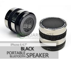 "Black Portable Bluetooth Speaker for iPhone 6 4.7"" #iPhone6#Speakers #PortableSpeakers#AppleAccessories #Accessories#Apple #BlackSpeakers"