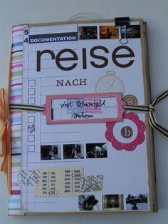 Reisetagebuch aus A4-Briefumschlägen