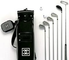 I haven't been to the driving range in about 3 years but I definitely would go if I had this!!! - Chanel Golf Bag