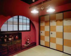 昭和モダン インテリア - Google 検索 Modern Japanese Interior, Japanese Home Design, Traditional Japanese House, Japanese Modern, Modern Interior, Interior S, Interior And Exterior, Ceiling Painting, Oriental Decor