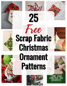Diy Quilted Christmas Ornaments, Fabric Christmas Decorations, Origami Christmas Ornament, Folded Fabric Ornaments, Christmas Fabric Crafts, Origami Ornaments, Christmas Patterns, Easy Ornaments, Christmas Patchwork