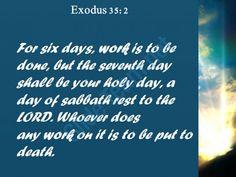 exodus 35 2 any work on it is to powerpoint church sermon Slide03http://www.slideteam.net