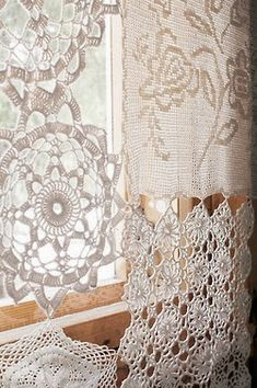Through Lace Curtains Lace curtains, Colorful curtains