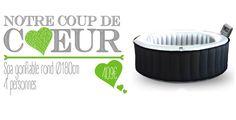 Coup de coeur : Spa gonflable rond Ø180cm - 4 personnes #spa #spagonflable #détente #bienêtre #balnéothérapie