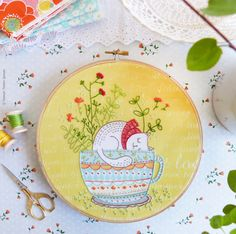 Hand embroidery kit DIY gift Embroidery Kit  Sweet Dreams