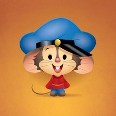 Fievel Mousekewitz designed by Jerrod Maruyama. Connect with them on Dribbble; the global community for designers and creative professionals. Disney Kunst, Arte Disney, Disney Art, Disney Pixar, Cute Cartoon Characters, Couple Cartoon, Kawaii Doodles, Kawaii Chibi, Disneyland Pins