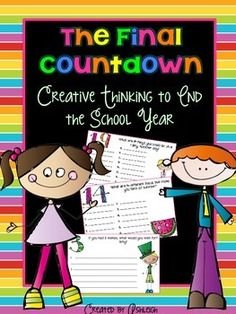 Are you already counting down the days to summer vacation? If so, I'm pretty sure you're going to LOVE this product! In this packet, students will count down the last 20 days of the school year through creative thinking questions each based on the number of school days left in the year. All of the questions have a summer theme and will really get your students thinking outside of the box!