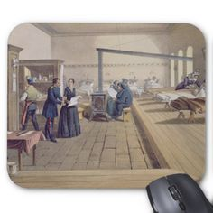 Hospital at Scutari, detail of Florence Nightingal Mouse Pad
