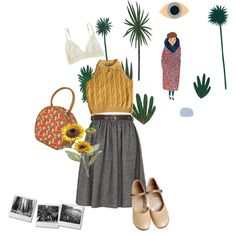 snowing in spring by parenchymas on Polyvore featuring art