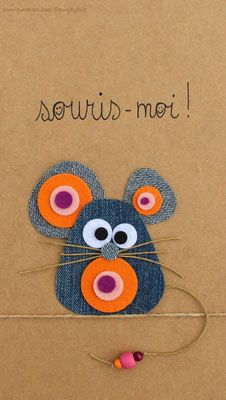 Discover thousands of images about Souris-moi ! Recyclage des pantalons by MyLittleCornerOfTheWorld Jean Crafts, Denim Crafts, Diy And Crafts, Diy For Kids, Crafts For Kids, Artisanats Denim, Fabric Crafts, Paper Crafts, Animal Crafts