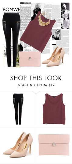 """""""Romwe contest"""" by fashion-336 ❤ liked on Polyvore featuring Anja, Marc Jacobs, Monki, Rupert Sanderson, Alexander McQueen and Oscar de la Renta"""