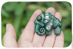The Beading Gem's Journal: How to Make a Steampunk Polymer Clay Elephant