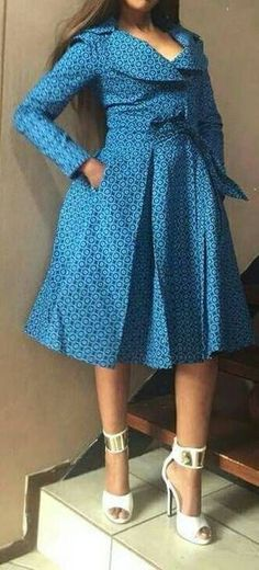 African print coat/shweshwe coat by TMFashionaccessories on Etsy ~African fashion, Ankara, kitenge, . African Dresses For Women, African Print Dresses, African Attire, African Fashion Dresses, African Wear, Ghanaian Fashion, African Prints, Dress Fashion, Ankara Fashion