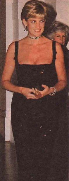 Princess Diana at gala 1st July 1997 (Diana's 36th birthday)