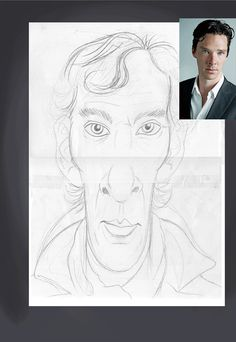 Benedict Cumberbatch art | decor | wall art | inspiration | caricatures | home decor | idea | humor | gifts