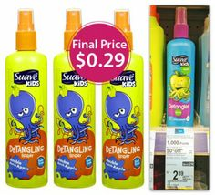 Suave Kids Detangling Spray, Only $0.29 at Walgreens!