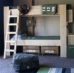 I love this army theme bunk for boys too.