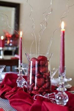 Valentine's Day/ wedding tablescape