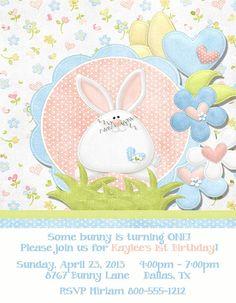 Deb's Party Designs - Bunny Birthday Invitation, $1.00 (http://www.debspartydesigns.com/bunny-birthday-invitation/)