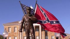 """""""Dual destiny"""" statue outside the Winston County court house. Confederate Monuments, Confederate Flag, American Civil War, American History, Civil War Quotes, County Court, Free State, My Heritage, Destiny"""