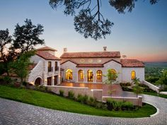 Hill country views. This is our dream house after the kids are grown. I love the city view of Austin, so beautiful.