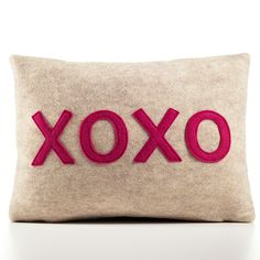 XOXO Pillow 10x14 Charcoal