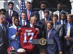 'Roll Tide': Alabama football team visits Trump at the White House Alabama Coach, Alabama Football Team, College Football Playoff, Crimson Tide Football, University Of Alabama, Alabama Crimson Tide, American Football, Lsu Game, Nick Saban